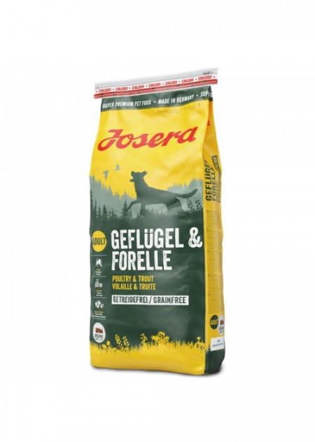 Корм для собак  Josera Geflügel & Forelle 15 кг