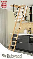 Чердачная лестница Bukwood Luxe Mini 90x60, 90x70, 90x80, 90x90, 100x60, 100x70, 100x80, 100x90