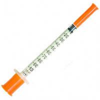 Шприц инсулиновый одноразовый 1 мл / 3-х компонентный / (U-100) / интегрирован. игла G30 (0,30*13) / ALEXPHARM