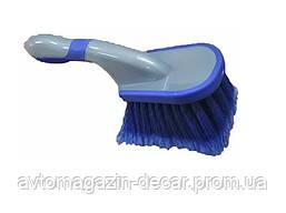 """Щетка с короткой ручкой для  уборки """"Autogen"""" (синяя)  L-260 мм"""