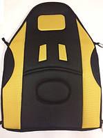 Накидка сид. черн/желтая сетка  (высокая)  CUHION2   (838)