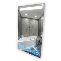"""Зеркало с LED подсветкой (60*80*2,5см) алюминиевый каркас """"ДЕЛЬФИНЫ"""" VZ-AL-D51 с сенсором"""