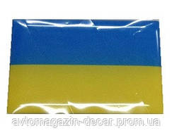 """Наклейка силикон """"Флаг Украины"""" (30x45)"""