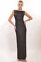 Нарядное черное женское платье в пол по фигуре RiMari Венеция 50, 52