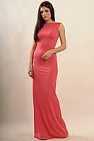 Нарядное розовое женское платье в пол по фигуре RiMari Венеция  42, 48, 50, 52