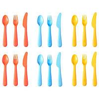 СОММАР 2019 Столовый набор,18 предметов, разные цвета, 00419700, ИКЕА, IKEA, SOMMAR 2019
