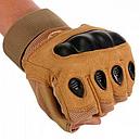 Перчатки без пальцев тактические Oakley (р.M), койот, фото 2