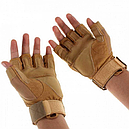 Перчатки без пальцев тактические Oakley (р.M), койот, фото 3