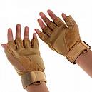 Рукавички без пальців тактичні Oakley (р. M), койот, фото 3