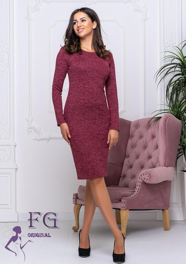 Женское теплое платье из ангоры по колено Rondo