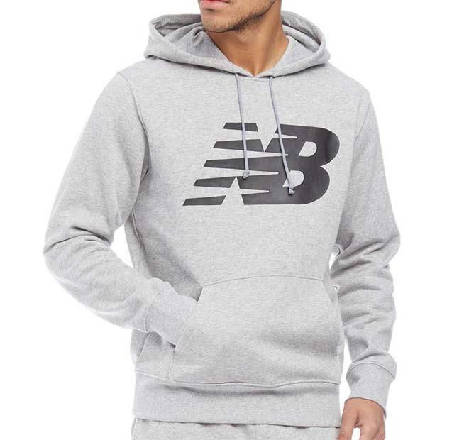 Оригинальная светлое теплое худи New Balance Pullover Hoody MT71982