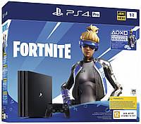 Игровая консоль Sony PS4 PlayStation 4 Pro 1TB Black Fortnite, фото 1