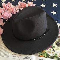 Шляпа Федора унисекс с устойчивыми полями Classic темно-серая (графит), фото 1