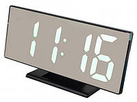 Электронные настольные зеркальные LED часы UKC DS-3618L белая подсветка