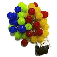 """Светодиодная гирлянда """"Шарики разноцветные"""" 4м 20LED 220В RGB мультицвет"""