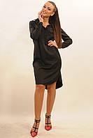 Черное женское платье-рубашка из плотной ткани RiMari Текила 42, 44, 46, 50