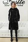 Шуба Норковая Черная 100 см Канадская Шанель 0524ЕИШ, фото 2