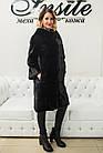 Шуба Норковая Черная 100 см Канадская Шанель 0524ЕИШ, фото 10
