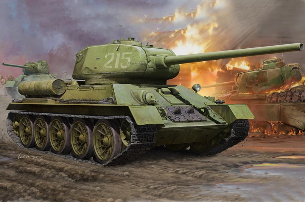 Т-34/85. Сборная модель советского танка. 1/16 HOBBY BOSS 82602