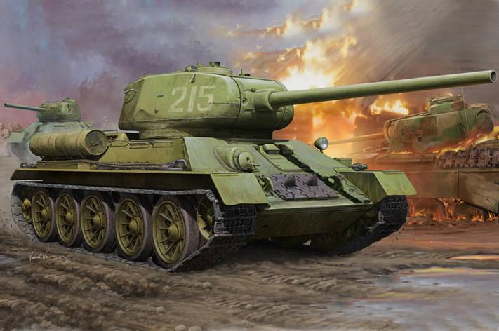 Т-34/85. Сборная модель советского танка. 1/16 HOBBY BOSS 82602, фото 2