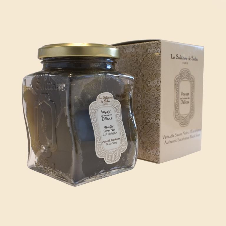 Черное мыло с Эвкалиптом 300мл La Sultane de Saba Султан де Саба BLACK SOAP WITH EUCALYPTUS