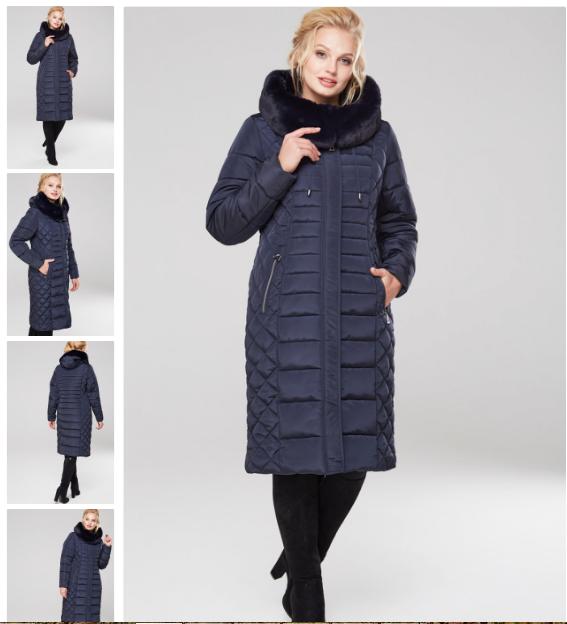 Модное батальное женское пальто