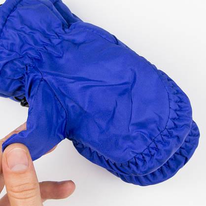 Зимние детские варежки-краги (собачки) №19-12-16 синий, фото 3