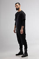 Футболка черная Longline t-shirt A0222