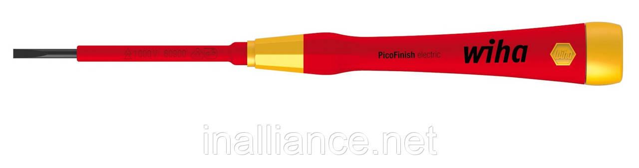 Тонкая микро отвертка шлиц SL 2,0 х 40 мм PicoFinish electric Wiha 38875