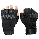Перчатки без пальцев тактические Oakley (р.L), черные, фото 3