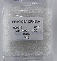 Бисер 10/0,  №00050 (уп.50 грамм) (с квадратным отверстием)