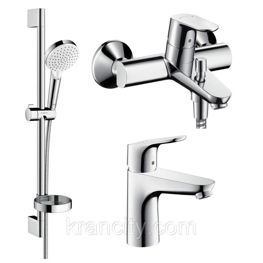 Набор смесителей для ванны HANSGROHE  Focus (31607000+31940000+26553400)