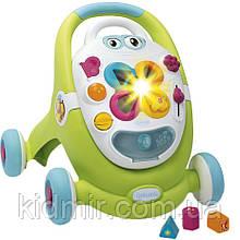 Дитячі ходунки штовхачі світло, звук зелений Smoby Cotoons 110428