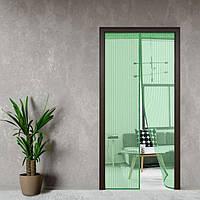 Антимоскитная штора на дверь на магнитах Magic Mesh Зеленая