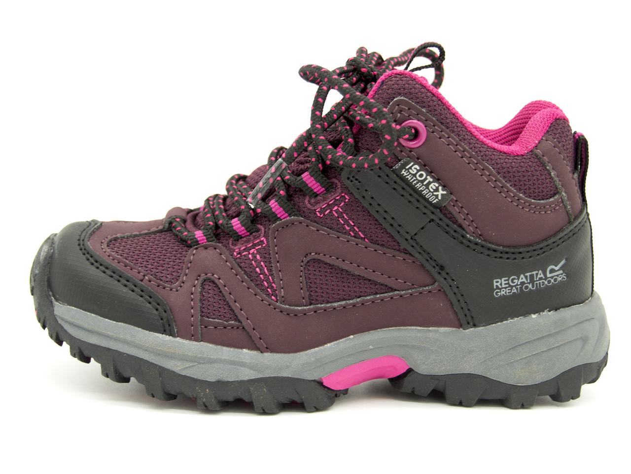 Ботинки Regatta Gatlin Mid JNR pink Размеры: 28 (17,5 см); 29 (18,5 см); 30 (19 см);