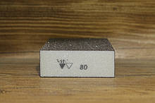 Абразивная губка 4-х сторонняя, Siasponge Block, P80, 1 шт., SIA Abrasives