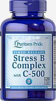 Витамины Puritan's Pride Stress Vitamin B-Complex with Vitamin C-500 Timed Release 60 таблеток (4384301666)