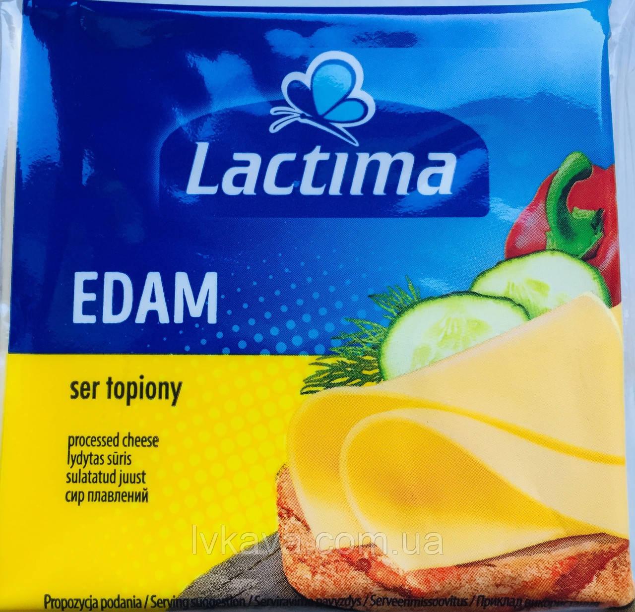 Сыр плавленный нарезанный Lactima Edam , 130 гр
