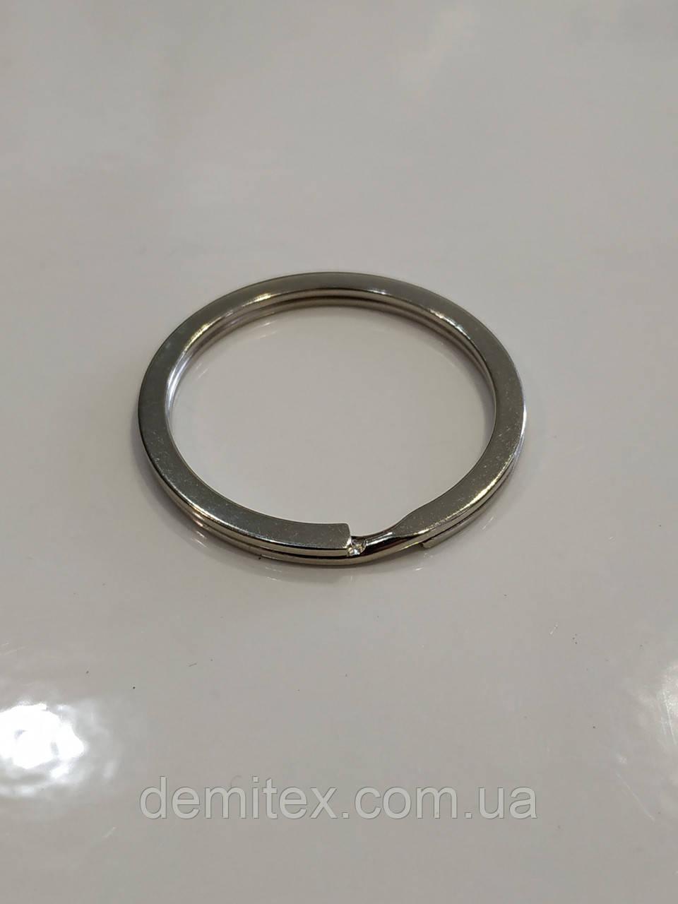 Кольцо заводное 30 мм внутренний диаметр цвет никель