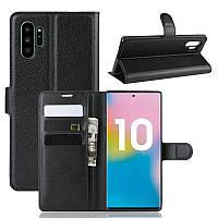 Чехол Luxury для Samsung Galaxy Note 10 Plus (N975) книжка черный
