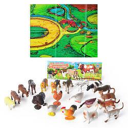Набор фигурок домашних животных HU M 0256 20 штук в упаковке