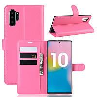 Чехол Luxury для Samsung Galaxy Note 10 Plus (N975) книжка розовый