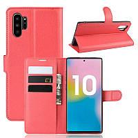 Чехол Luxury для Samsung Galaxy Note 10 Plus (N975) книжка красный
