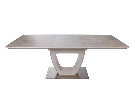 Стол обеденный TORONTO (120+(40)*80*76 керамика) беж, фото 2