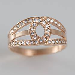 Золотое кольцо с фианитами ГК1790
