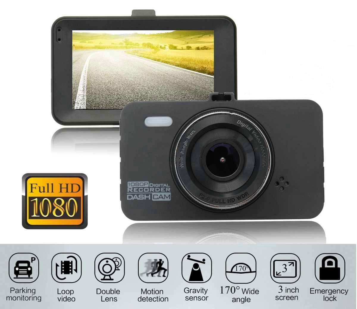 Видеорегистратор автомобильный DVR FH-13 FullHD 1080P