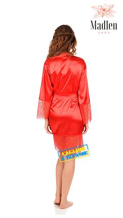 Красный атласный халат, фото 2