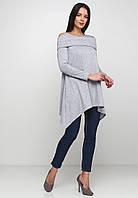 Оригинальное свободное платье-туника с вырезами на плечах и удлиненными уголками юбки Dahlia