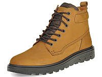 Зимние кожаные ботинки мужские Waterproof Mida 14392 (379)