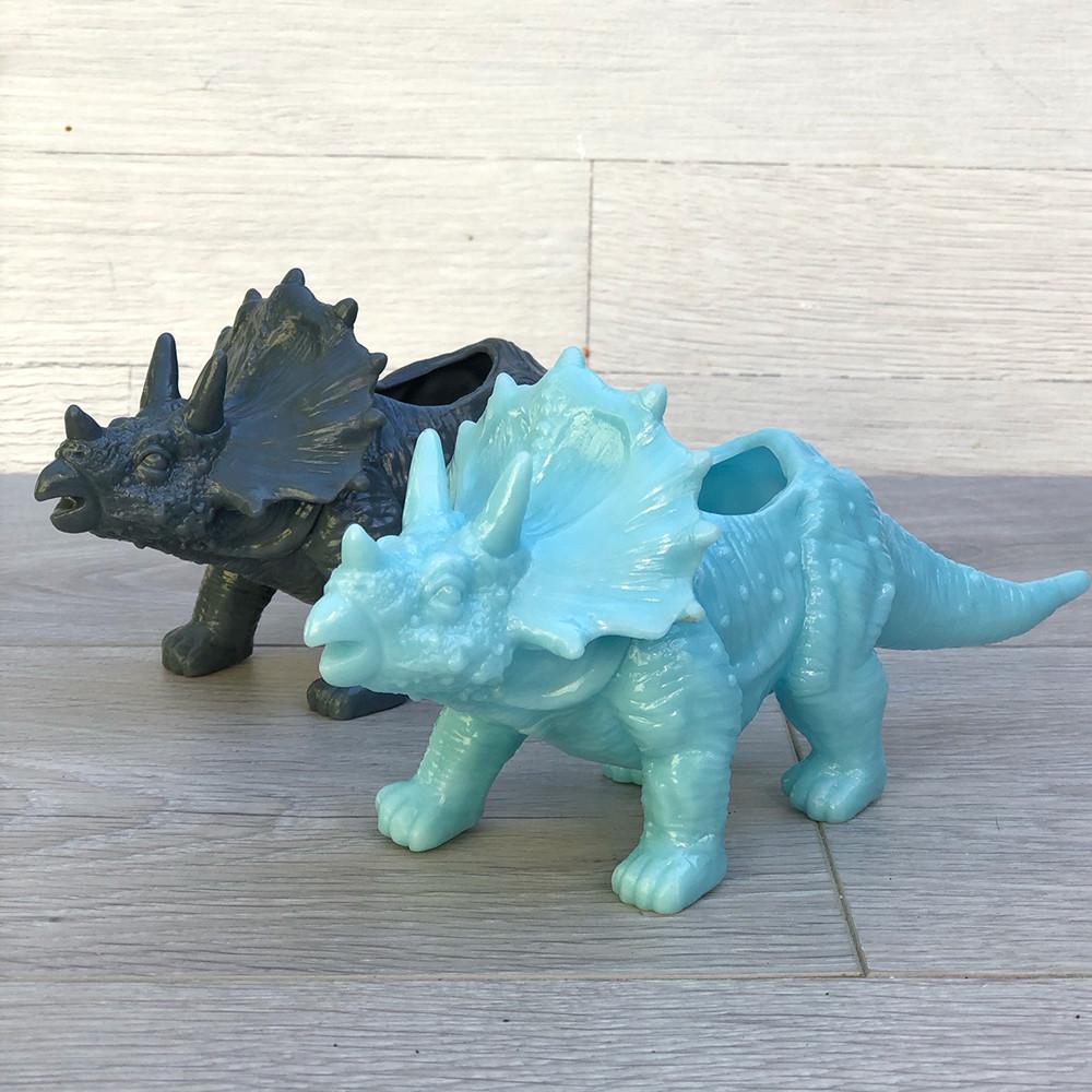 Цветочное кашпо Динозавр (трицератопс)
